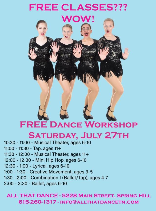 All That Dance Studio | 5228 Main Street ~ Suite B-6